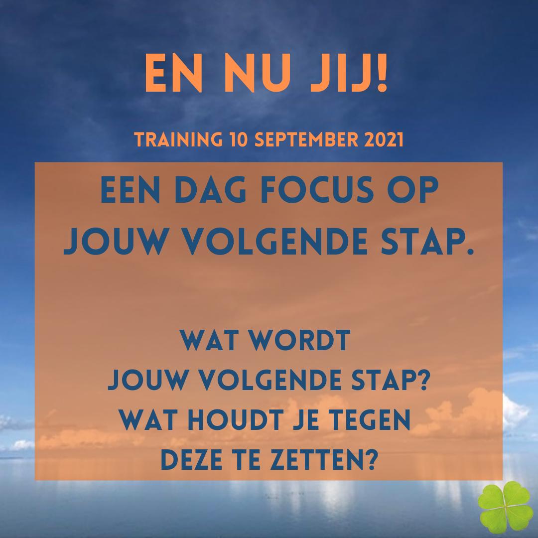 En nu jij! – de training: 10 september 2021